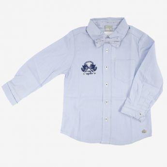 Birba - klasyczna koszula z muchą - jasnoniebieska