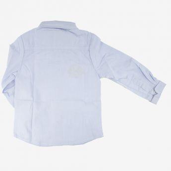 Birba, klasyczna koszula z muchą, jasnoniebieska